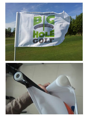 Golf flags custom